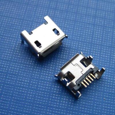 microUSB B type 5pin (焊脚:SMT, 外壳:DIP) 有翻边