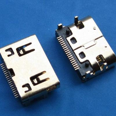HDMI C TYPE 母座 SMT型 平口 外壳中心距3.5mm
