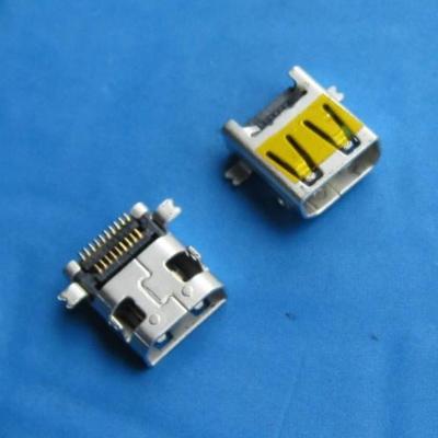 HDMI D TYPE 母座 SMT型 外壳前贴后插