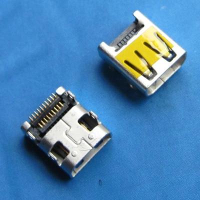 HDMI D TYPE 母座 SMT型 外壳DIP