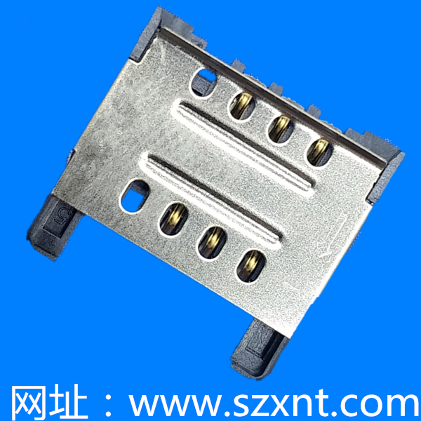 SIM CARD CONNECTOR 6PIN 拉拔式2.80H