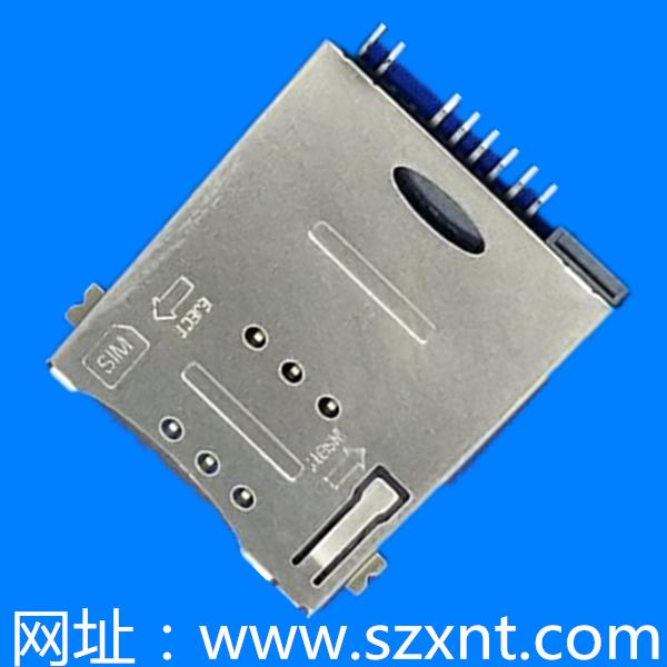 SIM卡座 push type 6+2pin 有CD