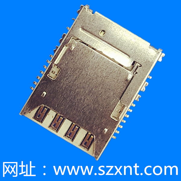 SIM卡座microSim8Pin+TF8Pin No-push (H=2.26)