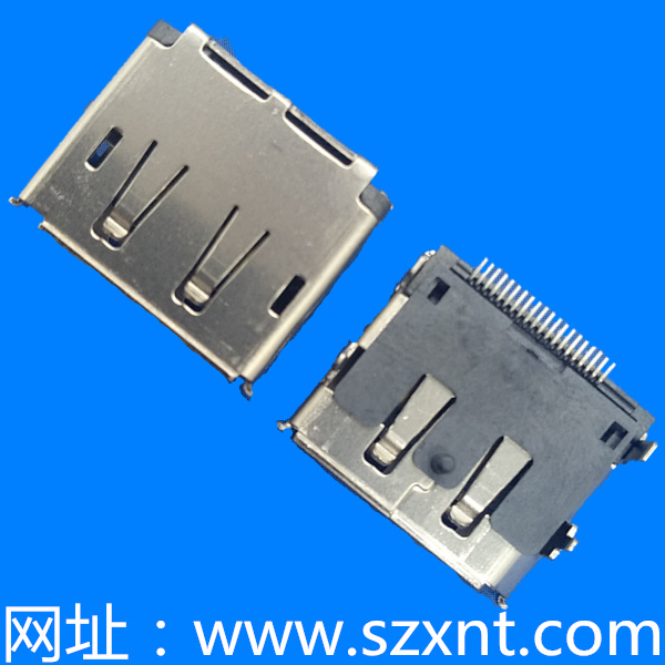 HDMI DP20Pin 前插后贴