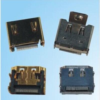 HDMI A TYPE 母座 端子SMT型 外壳DIP型