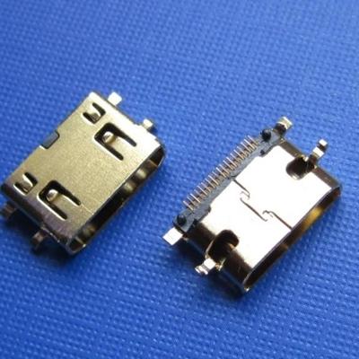 HDMI C TYPE SMT 母座 Sinking0.8MM型