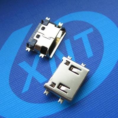 HDMI C TYPE 母座 Sinking1.5mm (短体)斜口