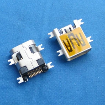 miniUSB AB type 10pin 母头 沉板2.10mm