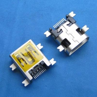 miniUSB AB type 10pin 母头 沉板1.0mm