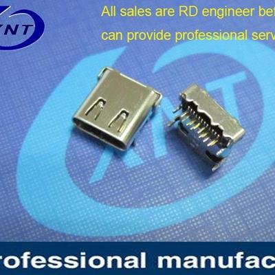 USB端子DIP+SMT 外壳脚距4.40