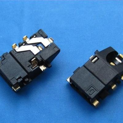 耳机座3.5mm phone jack 沉板 DIP type 上斜口