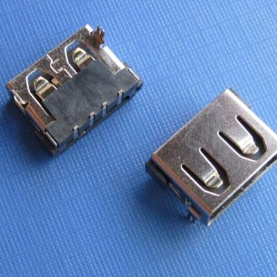 USB A type 板上10.00宽 DIP型 (焊脚:DIP, 外壳:DIP)