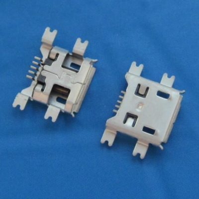 microUSB B type 沉板1.27mm 有翻边