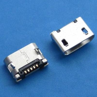 microUSB B type 5pin (焊脚:SMT, 外壳:前贴后插) 无翻边