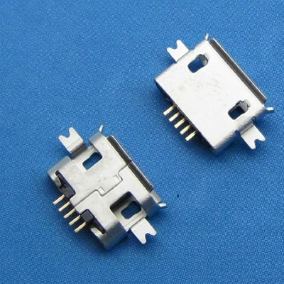 micro USB 5pin female B type沉板 1.00mm SMT 带卷边