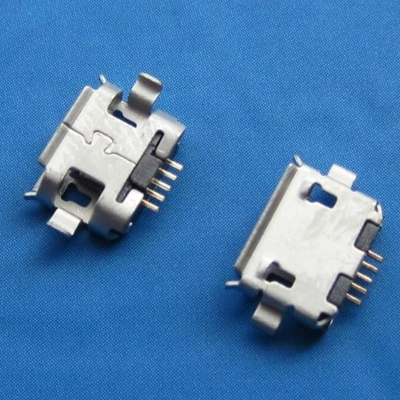 micro USB 5pin female B type沉板 1.0mm 端子SMT 外壳DIP