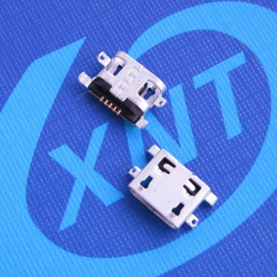 microUSB B type 沉板0.8mm SMT 外壳DIP 无翻边