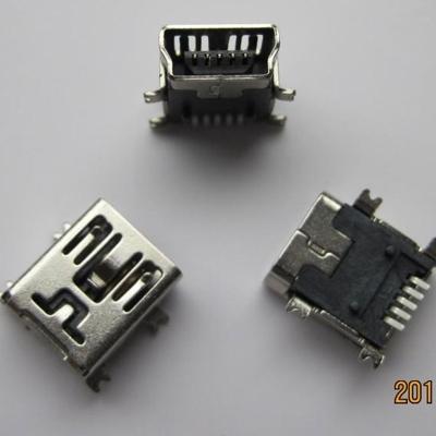 miniUSB B type 5pin (焊脚:SMT, 外壳:SMT)