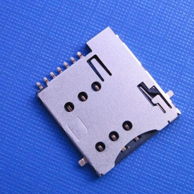 microSim push type 6+1pin with CD 可反贴到PCB