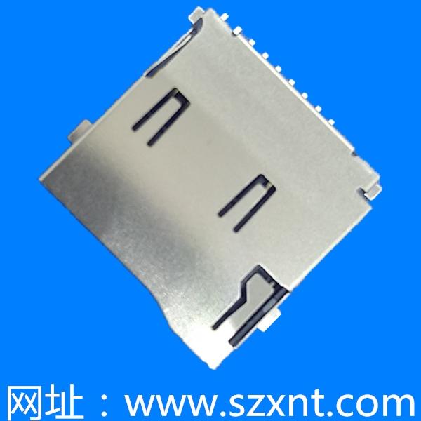 深圳TF卡座TF/microSD push 外焊带侦测
