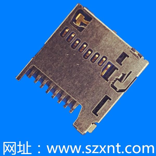 TF卡座 micro SD 1.28高 超薄 push push 型号