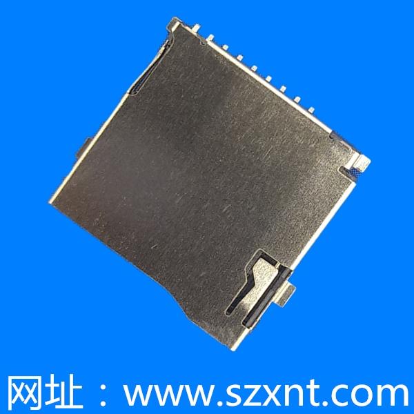 惠州TF卡座TF/microSD push 外焊带侦测