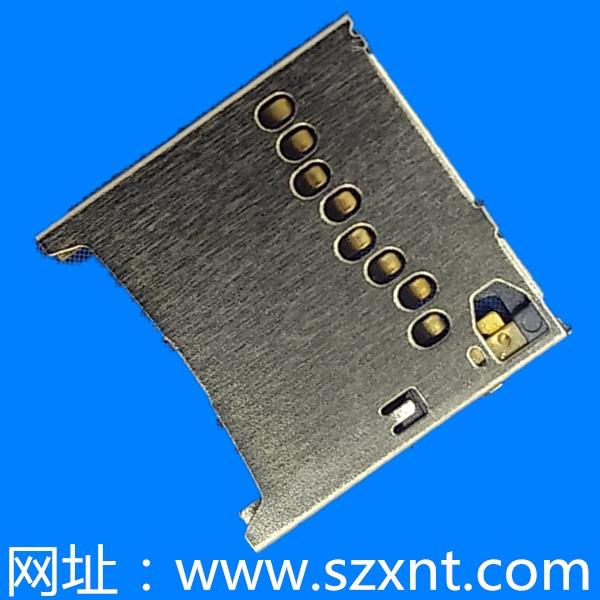 TF 超薄卡座 1.32高 带CD PIN