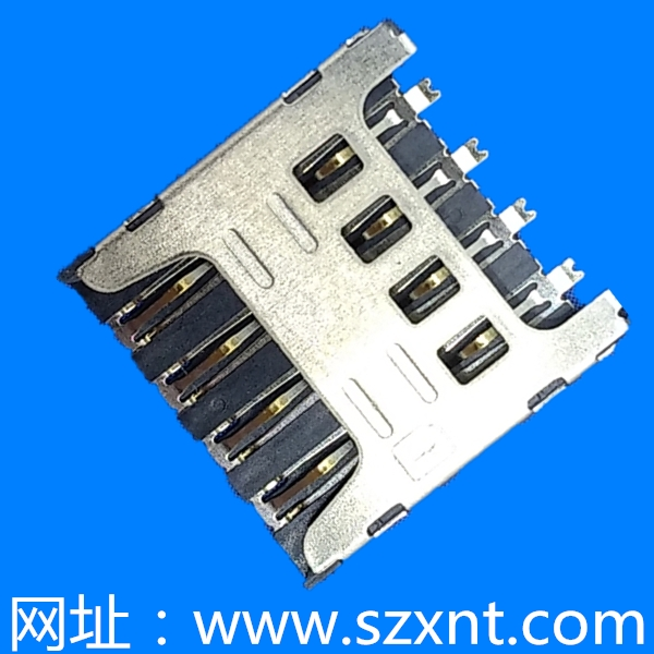 microSim No-push type 8pin (H=1.50)