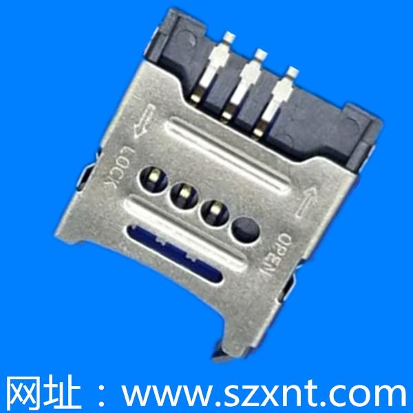 SIM 卡座 掀盖式 1.8高