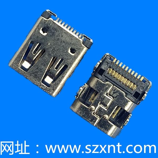 MICRO HDMI 外壳DIP 端子SMT