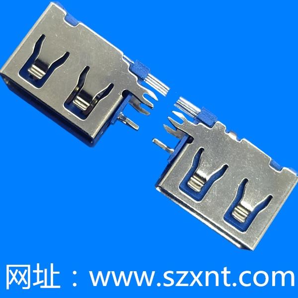 USB 侧插 短体 蓝胶