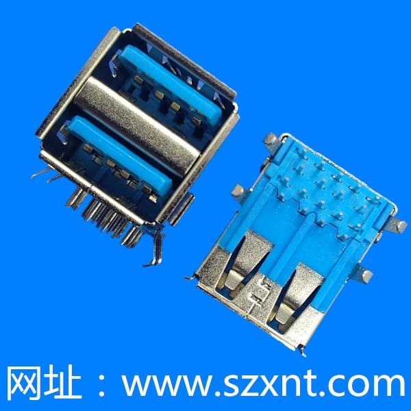 USB 3.0 双层 蓝色胶芯