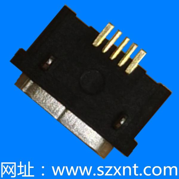 MICRO USB 板上平口 防水 长头
